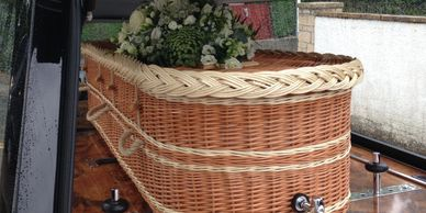 coffin wicker willow woven local eco coffin green burial environmentally friendly funeral