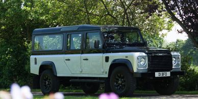 Land rover british hearse 4 x 4 off road classic car iconic car funerals north devon funerals