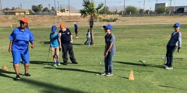 Enhancing Forward Action Vision children golfing picture