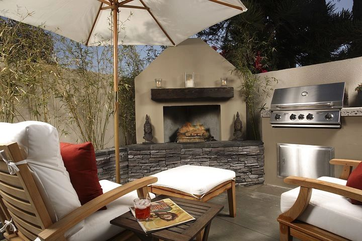 Stylish outdoor patio living