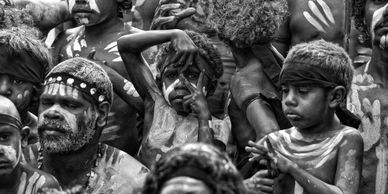 photograph of aboriginal children at laura festival by indigenous photographer wayne quilliam