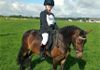 Grace & Elliott looking superb with their bling browband & dark saddlepad bought from Tack'n'Togs