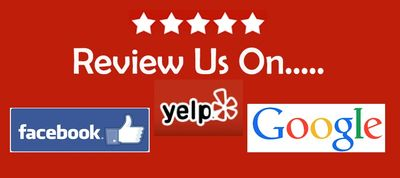 Image in color asking for review from Google, Yelp, and Facebook.