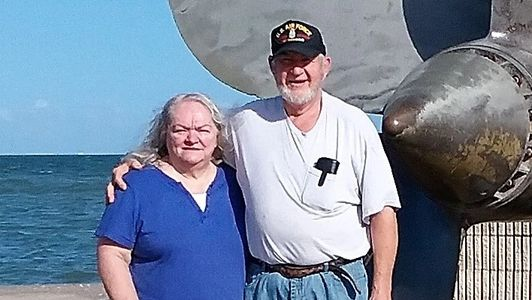 Troy and Sharon Foster! On vacation in TX at USS Lexington Museum in Corpus Christi Bay!!