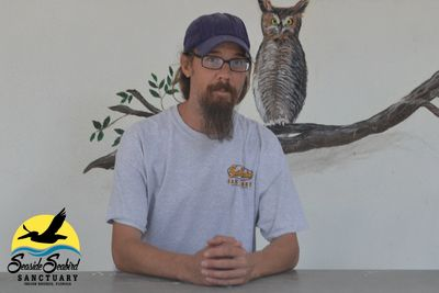 The Seaside Seabird Sanctuary's Nutrition & Habitat Specialist, Chris Walls.
