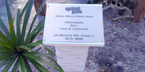 Gilligan's Island Memorial located inside the Seaside Seabird Sanctuary in Indian Shores, Florida.
