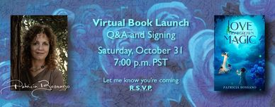 Virtual book launch ad creative