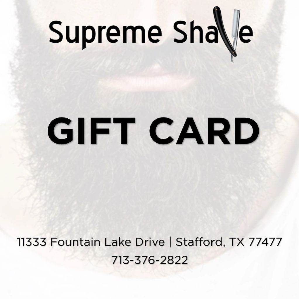 Give a supreme gift with a Supreme Shave Gift Card.