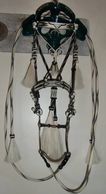 Horsehair hitched bridle:  Montana prison made.  7' long reins.  Selling with E. Garcia bit.