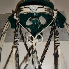 Horsehair hitched bridle