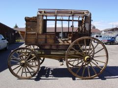 Conservation:  Stage Coach - Mud Wagon  before conservation