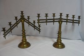 Candelabras :  Pair.  Antique adjustable and heavyhttps://img1.wsimg.com/isteam/ip/297f0372-6f78-437