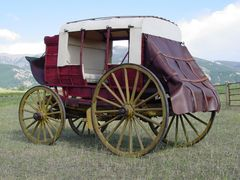 Conservation:   Stagecoach - Mud Wagon after conservation