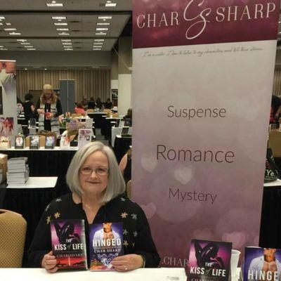 The Kiss of Life, Hinged, Soul Mate Rescued, Char Sharp, Author, Book signing, Romantic Suspense