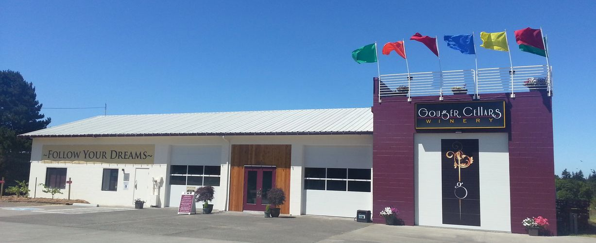 Gouger Cellars remodeled and moved into this beautiful Firehouse with rooftop seating in 2012