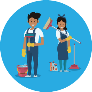qualified cleaning team