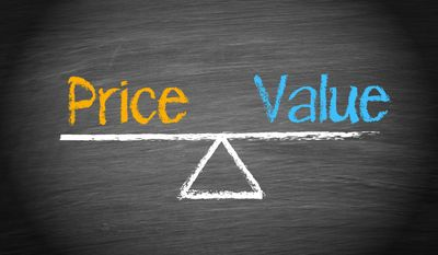 Affordable Pricing Value Scale