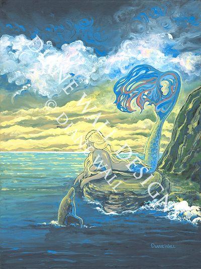 ocean art painter of sirens mermaids and undersea life