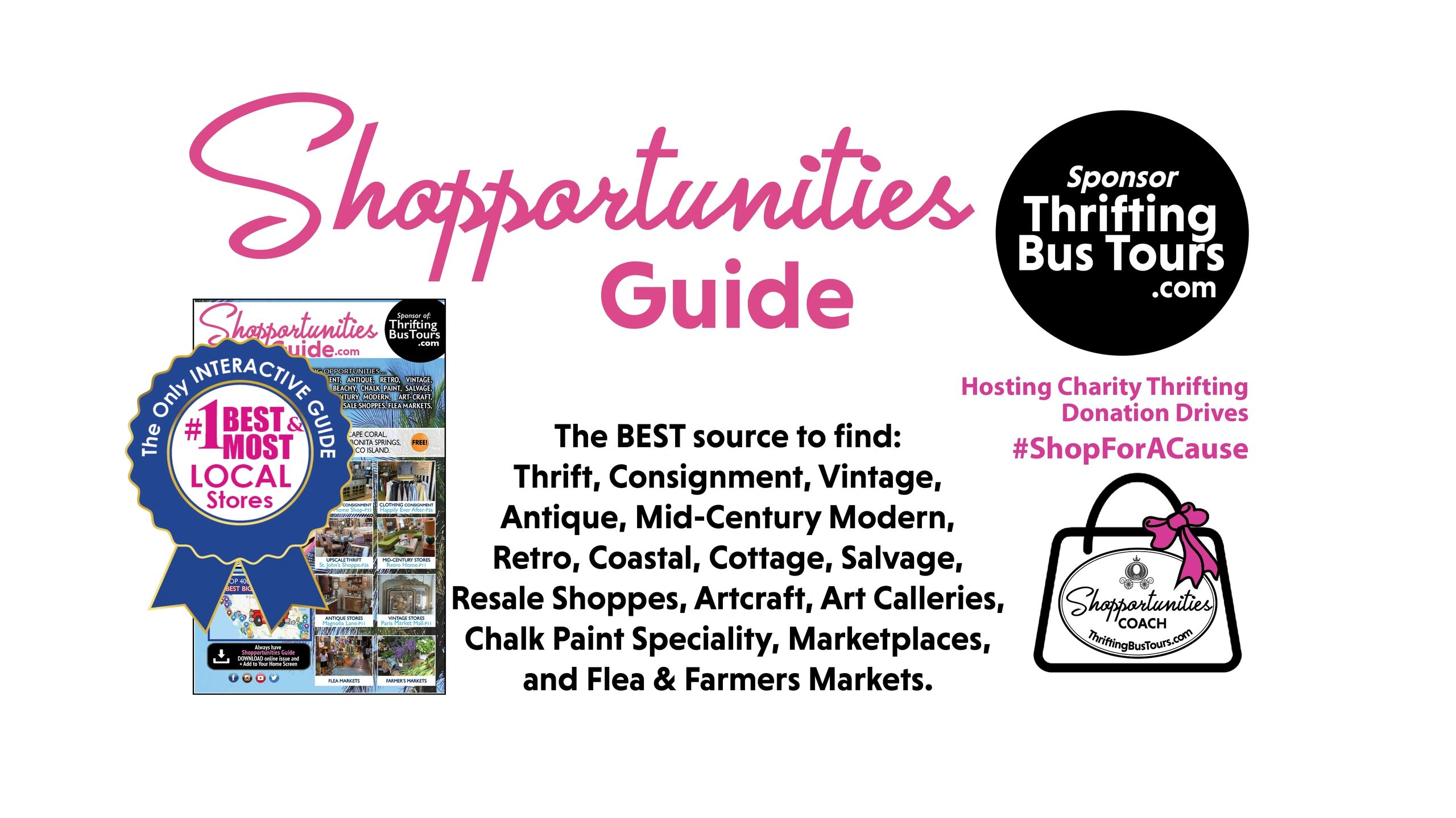 The Best Source to Find Thrift, Consignment, Vintage, Antique, Resale Stores, Flea & Farmers Markets