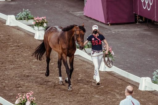 Jessica Springsteen in her first Olympic Games (CREDIT: FEI/CHRISTOPHE TANIERE)