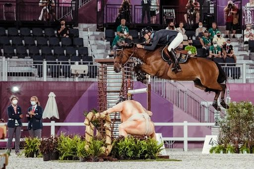 Peder Fredericson of Sweden on All In jumping the Sumo Wrestler (Credit: FEI/Christophe Taniére)