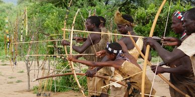 Hadzabe practising their archery skills / Immersie Experiences / Masai / Datoga / Cultural