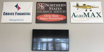 Lobby Wall Sign Centennial Center Advertising Sponsorship Ice Arena Grafton North Dakota