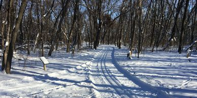 Cross-Country Snow Shoe Trails Leistikow Park Grafton Parks and Recreation Grafton North Dakota