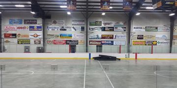 Arena Wall Sign Centennial Center Advertising Sponsorship Ice Arena Grafton North Dakota