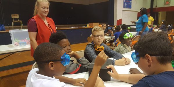 Amber Hartzo working with youth at Bossier BLAST program.