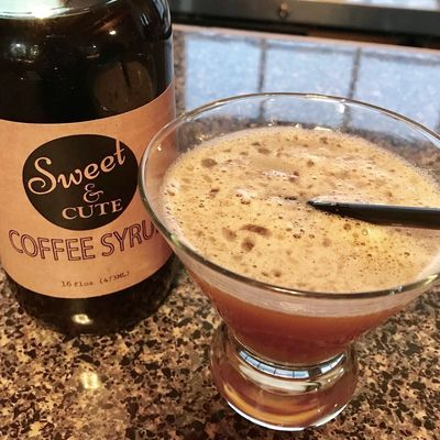 Sweet Cafe Bourbon made with Sweet & Cute Coffee Syrup