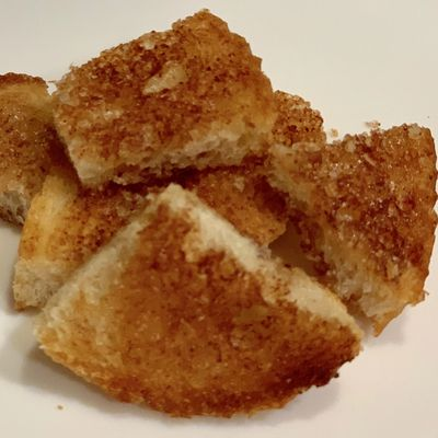 Cinnamon Croutons made with Sweet & Cute Coffee Syrup