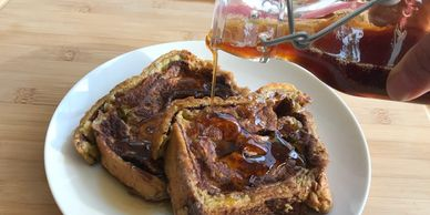 French Toast made with Coffee Syrup