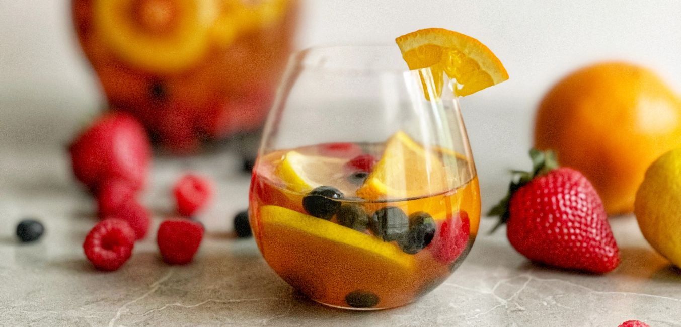 Sangria made with Sweet and Cute Coffee Syrup