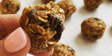 Energy balls made with Sweet & Cute Coffee Syrup