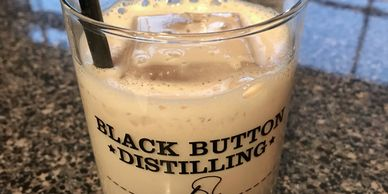 Bourbon Cream cocktail with Coffee Syrup