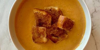 Pumpkin Cream Soup made with Sweet & Cute Coffee Syrup