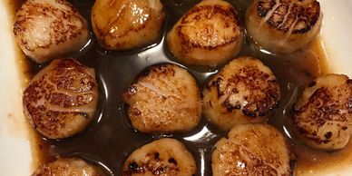 scallops marinated in coffee syrup recipe