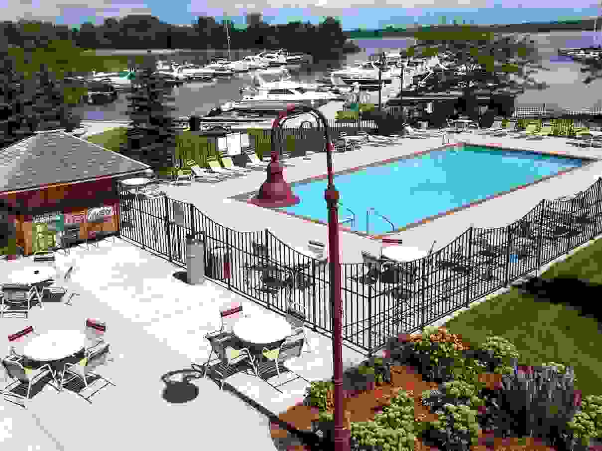 Wave Pointe's heated outdoor pool.