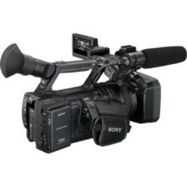 Professional Sony NX5U video camera with XLR audio inputs for shotgun & Lavalier microphones, lights