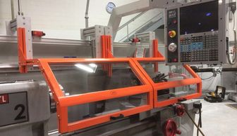 Machine tool safety guards for mills, lathes, drill presses, band saws, grinders, and sanders.