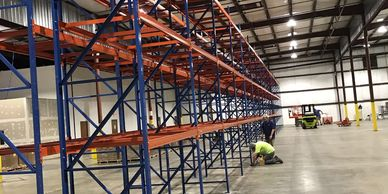Industrial service related installations of material handling products.