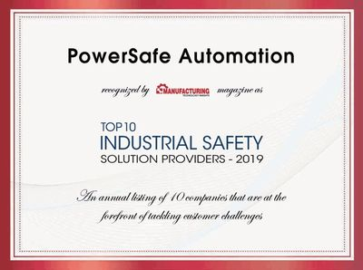 Named Top 10 Industrial Safety Solution Provider for 2019!