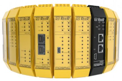 Safety relays, safety controllers, and safety interfaces for electronic machine guarding devices.