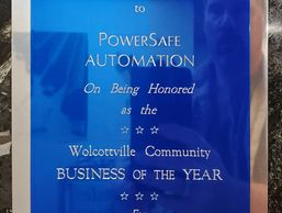PowerSafe Automation honored as the Wolcottville Community Business of the Year