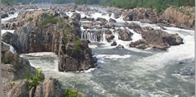 View of the rapids on the Potomac River at Great Falls, VA