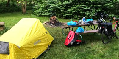 Overnight on the GAP at Dravo campground