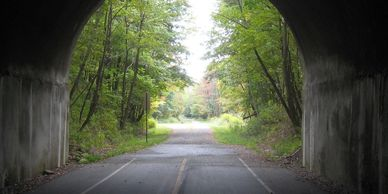 The Borden Tunnel along the Great Allegheny Passage.