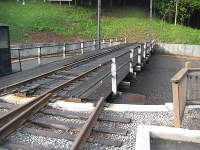 Western Maryland Railroad turntable is in Frostburg.