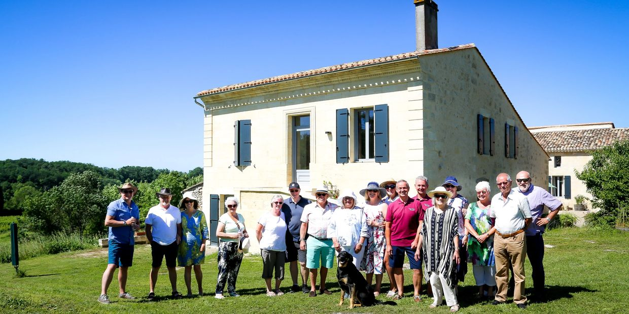 A Wine Tour Group at Clos Vieux Rochers Vineyard and Accommodation ​The Heart of Frances Wine Region